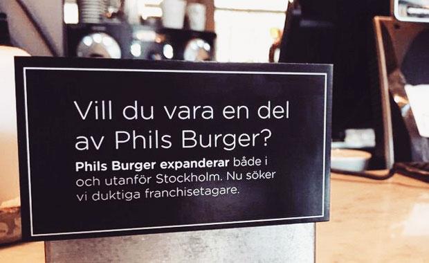 Nu tar Phil's Burger nästa steg i utvecklingen