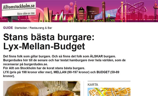 Stockholms bästa burgare – i samarbete med Allt om Stockholm