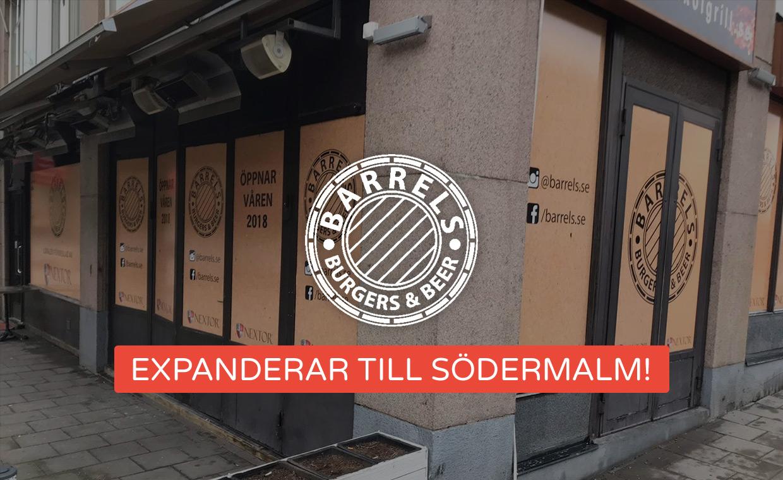 Barrels Burgers & Beer expanderar till Södermalm