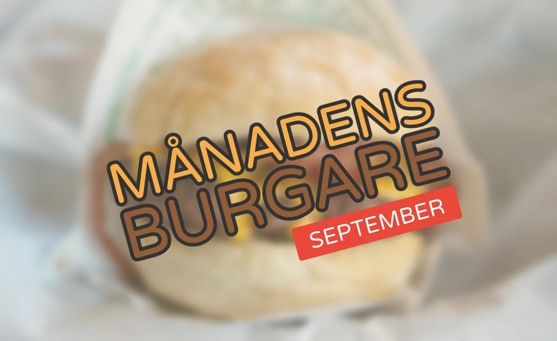 Månadens burgare [September 2018]