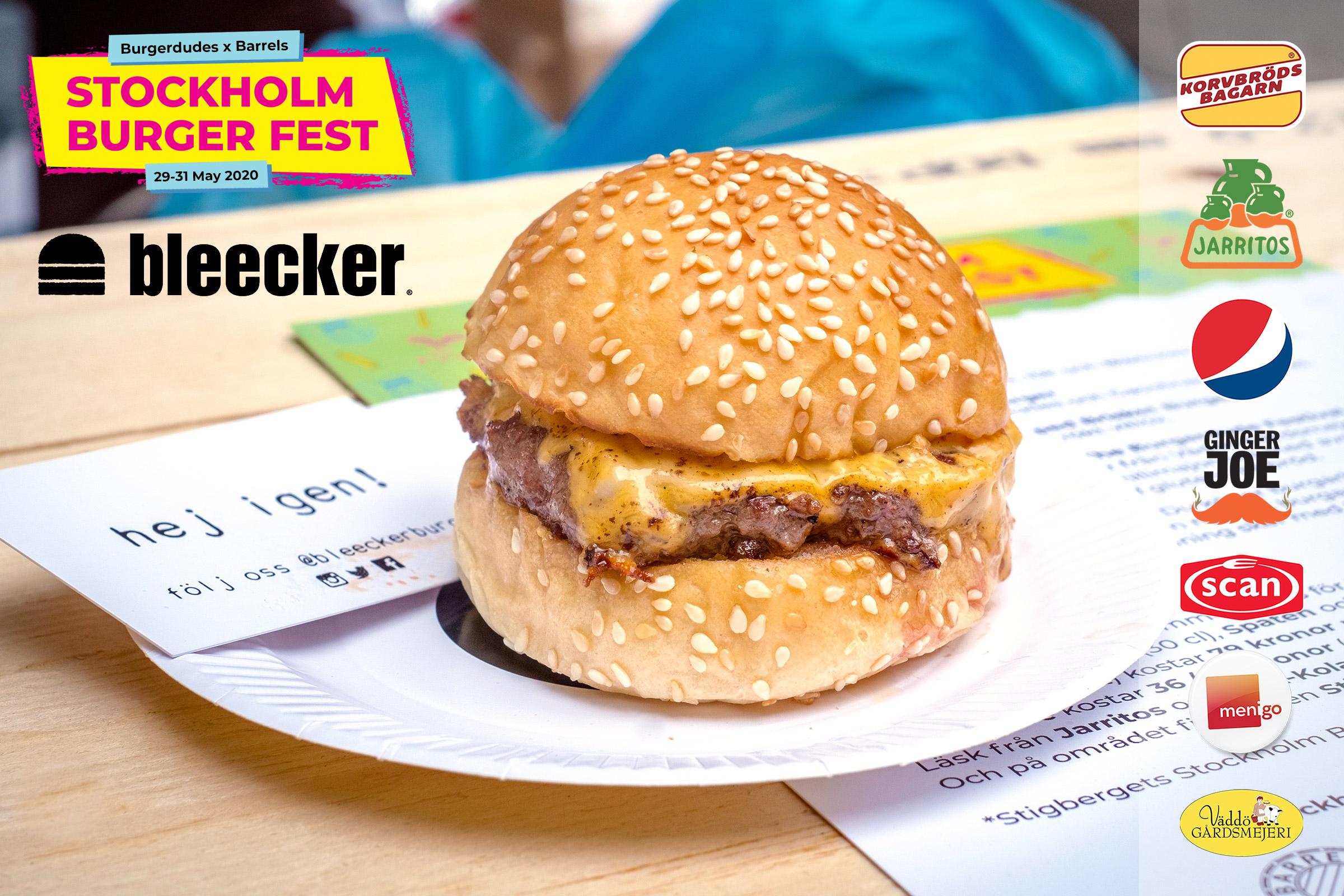 Bleecker kommer till Stockholm Burger Fest 2020